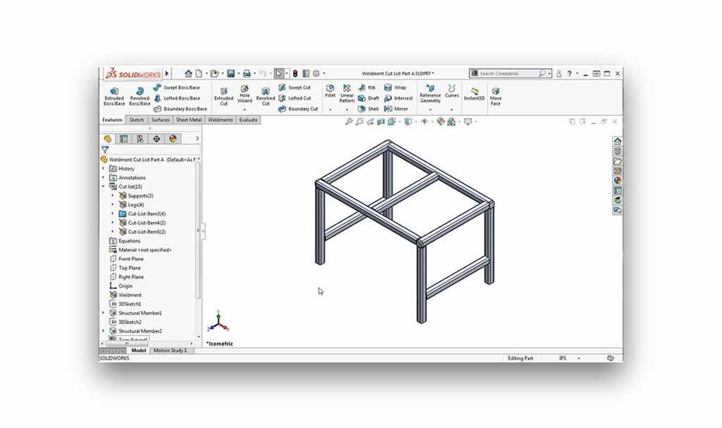 SOLIDWORKS linking a cut list folder to properties tutorial