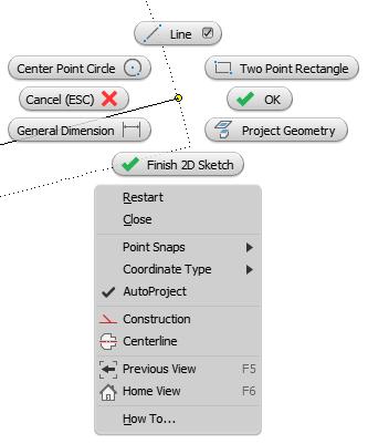 Inventor Line Tool Shortcuts